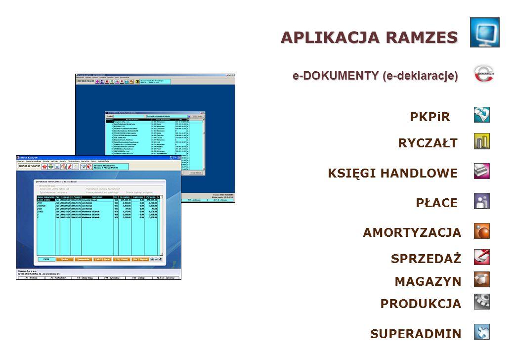 APLIKACJA RAMZES e-DOKUMENTY (e-deklaracje) PKPiR RYCZAŁT
