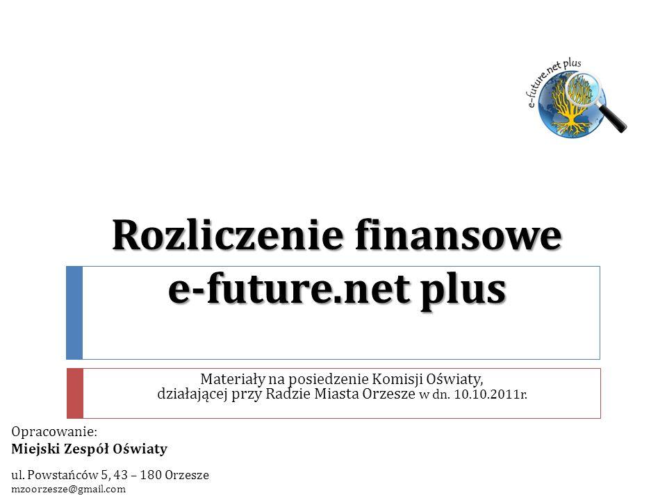 Rozliczenie finansowe e-future.net plus