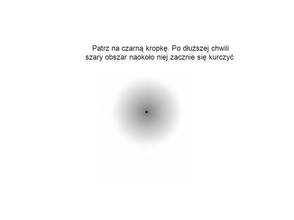 Patrz na czarną kropkę. Po dłuższej chwili