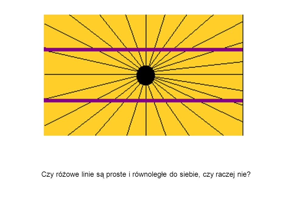 Czy różowe linie są proste i równoległe do siebie, czy raczej nie