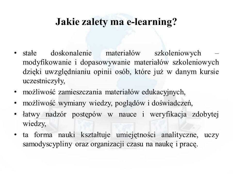 Jakie zalety ma e-learning