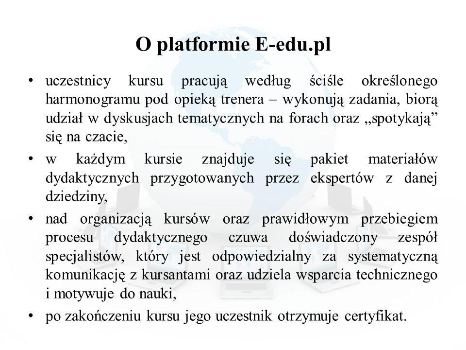 O platformie E-edu.pl