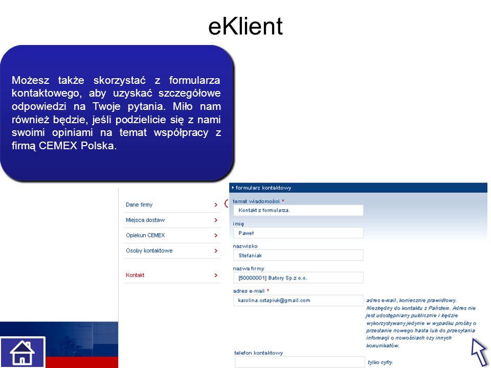 eKlient Kto w Twojej firmie może kontaktować się z CEMEX Polska Jest to jedna osoba, a może więcej