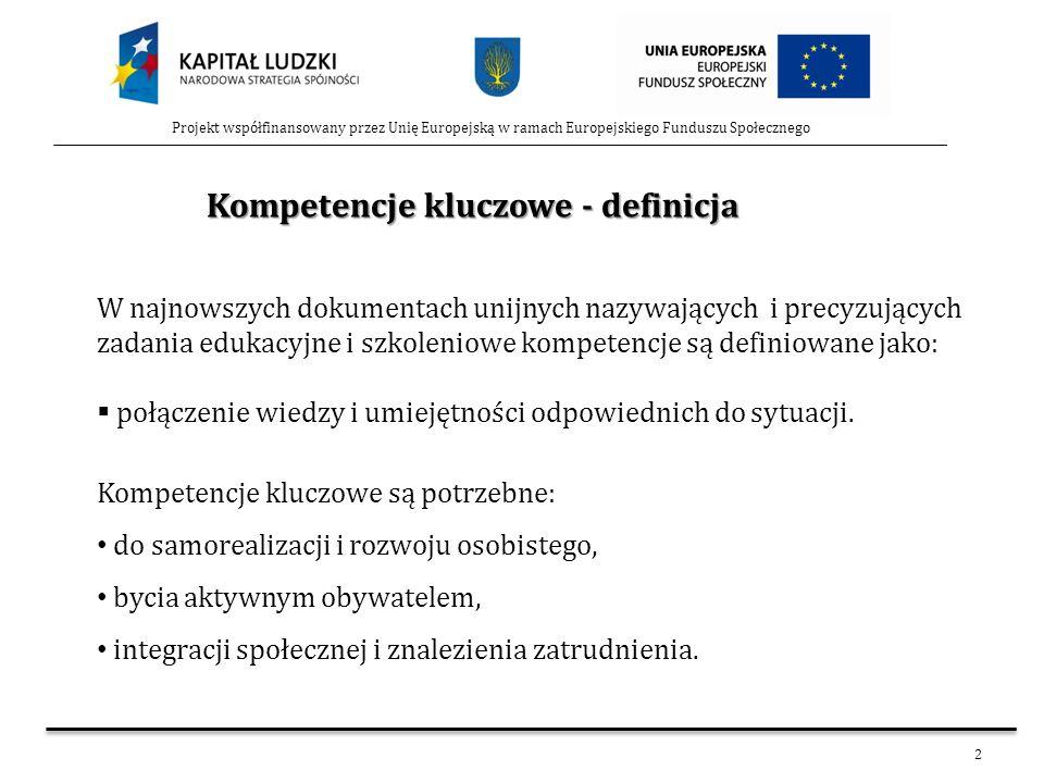 Kompetencje kluczowe - definicja