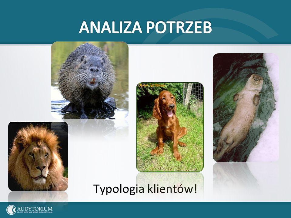 ANALIZA POTRZEB Typologia klientów!