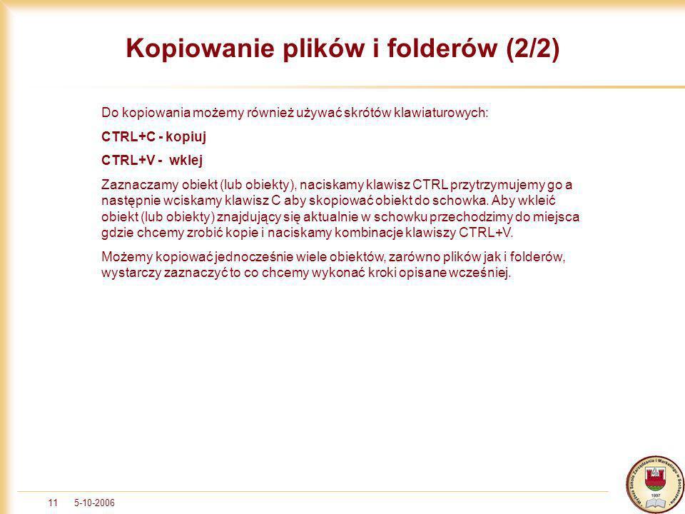Kopiowanie plików i folderów (2/2)