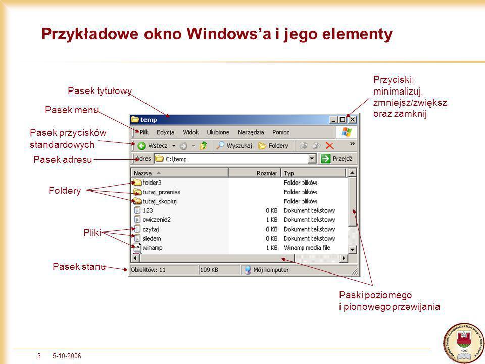 Przykładowe okno Windows'a i jego elementy