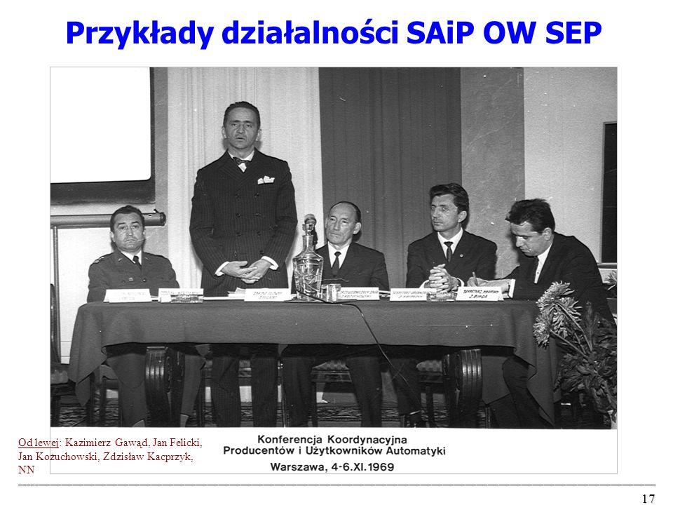 Przykłady działalności SAiP OW SEP