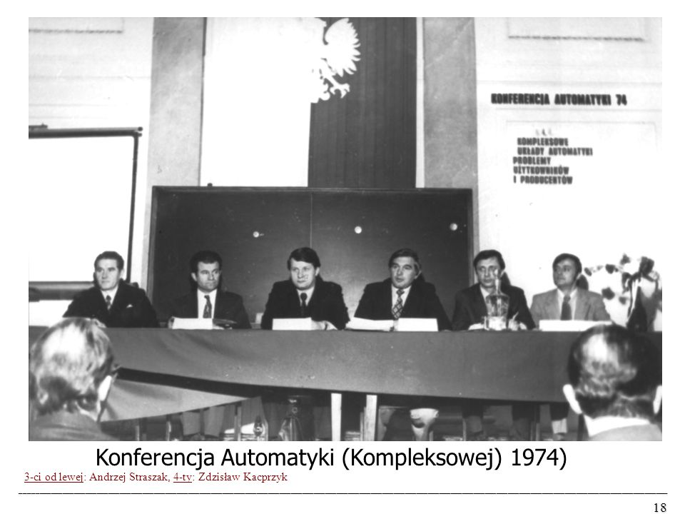 Konferencja Automatyki (Kompleksowej) 1974)
