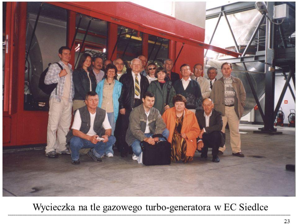 Wycieczka na tle gazowego turbo-generatora w EC Siedlce