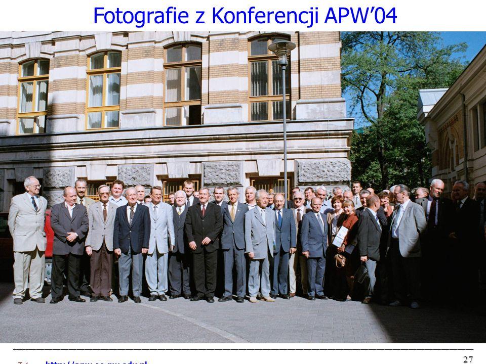 Fotografie z Konferencji APW'04