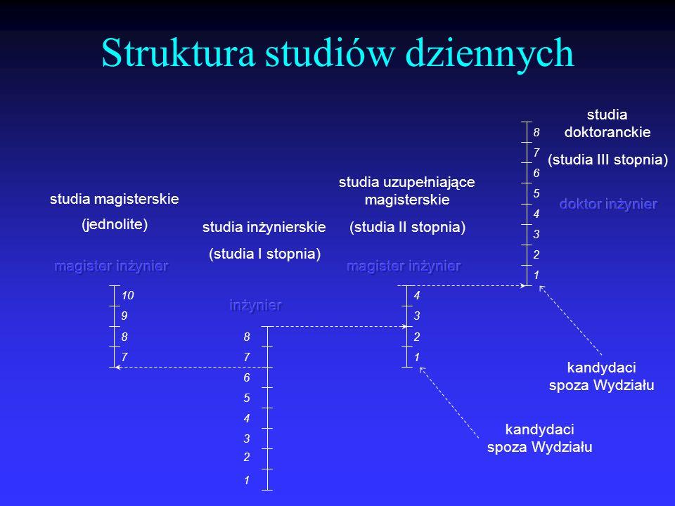 Struktura studiów dziennych