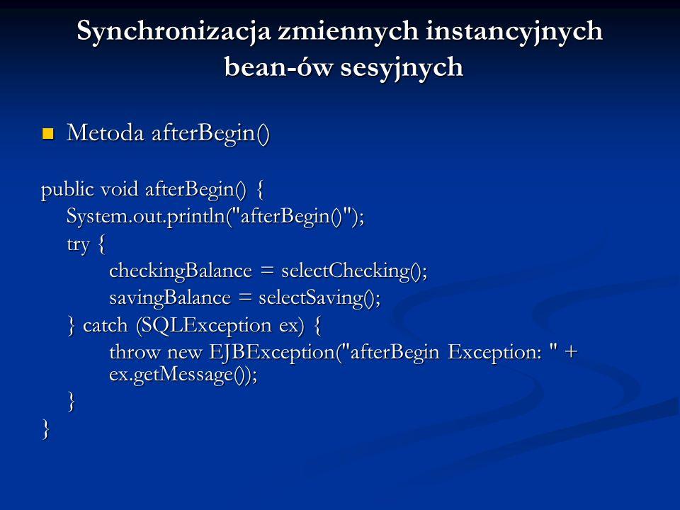 Synchronizacja zmiennych instancyjnych