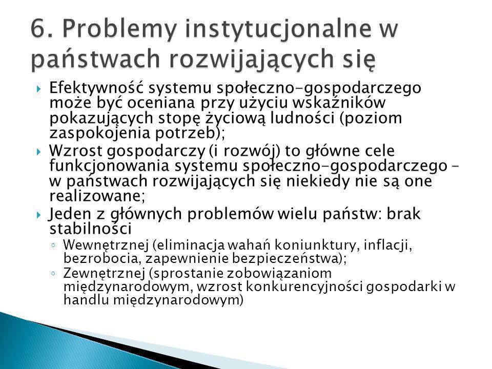 6. Problemy instytucjonalne w państwach rozwijających się