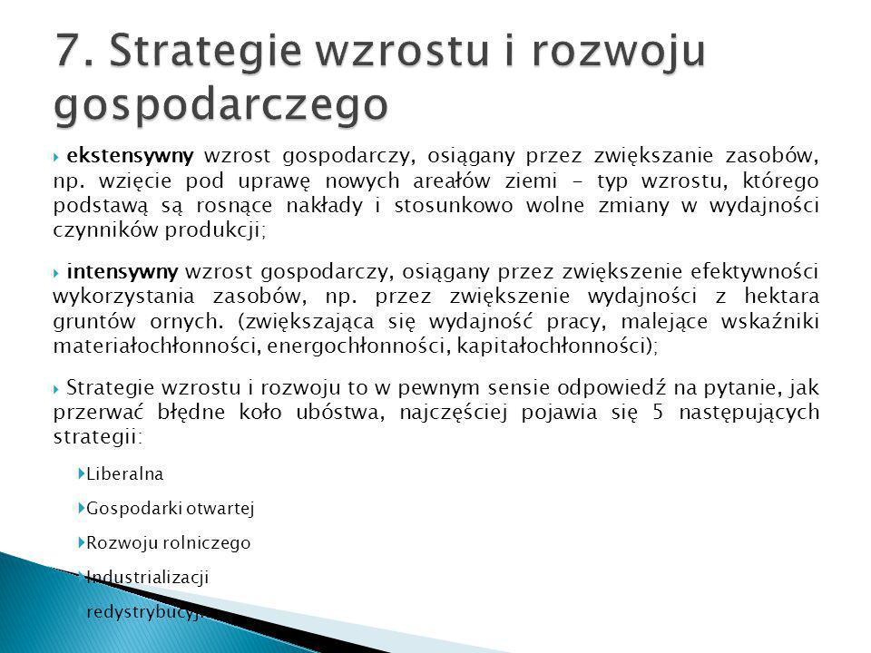 7. Strategie wzrostu i rozwoju gospodarczego