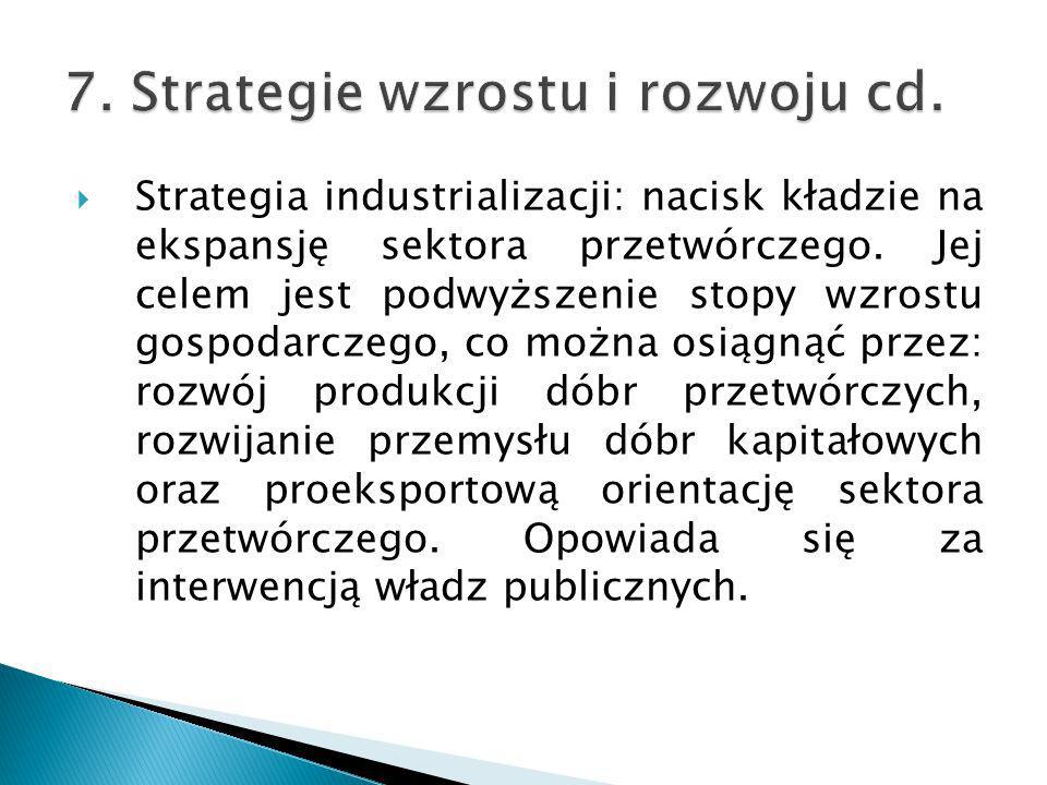 7. Strategie wzrostu i rozwoju cd.