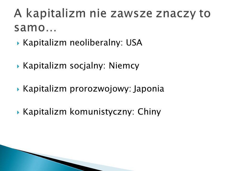 A kapitalizm nie zawsze znaczy to samo…