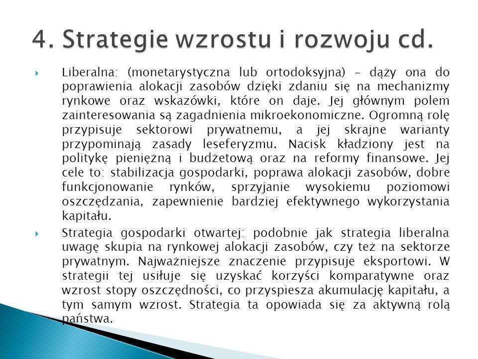 4. Strategie wzrostu i rozwoju cd.