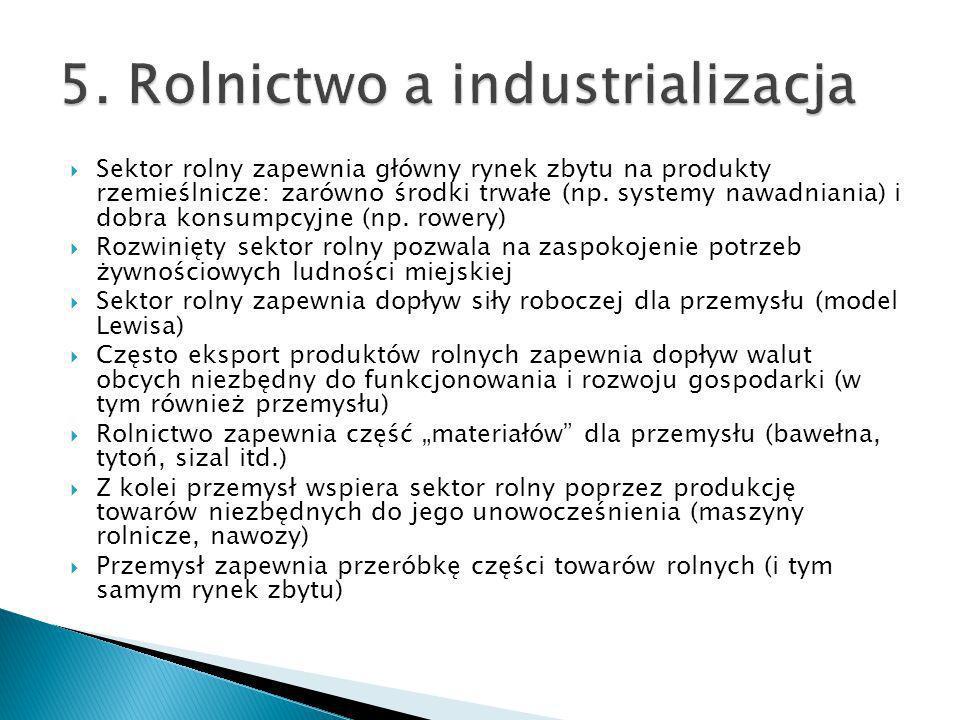 5. Rolnictwo a industrializacja