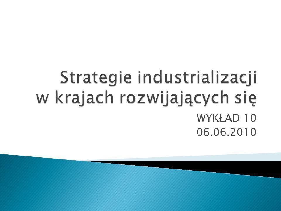 Strategie industrializacji w krajach rozwijających się