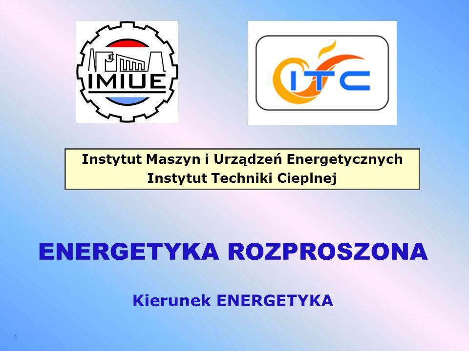 ENERGETYKA ROZPROSZONA Kierunek ENERGETYKA