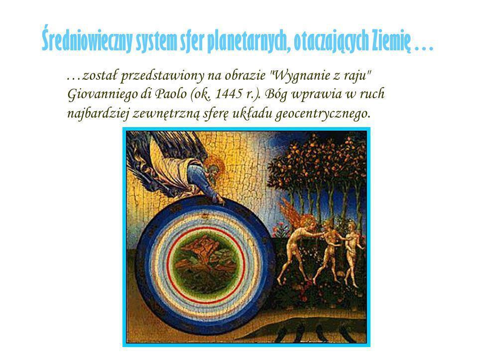 Średniowieczny system sfer planetarnych, otaczających Ziemię…