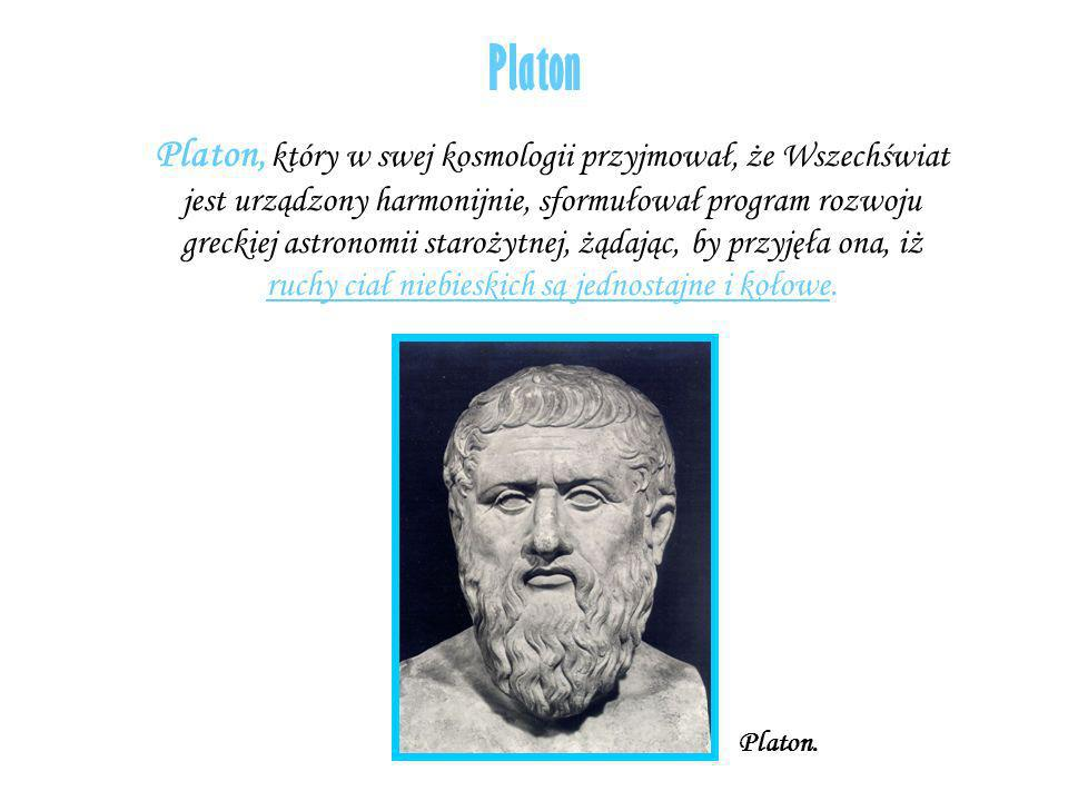 Platon Platon, który w swej kosmologii przyjmował, że Wszechświat