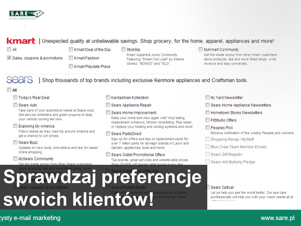 Sprawdzaj preferencje swoich klientów!