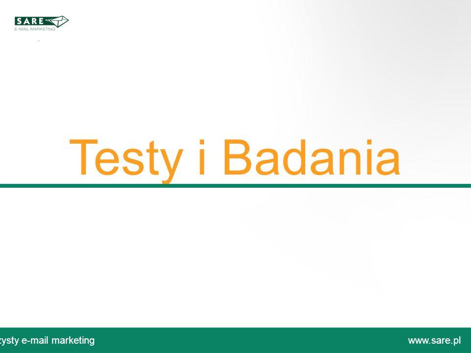 Testy i Badania Czysty e-mail marketing www.sare.pl