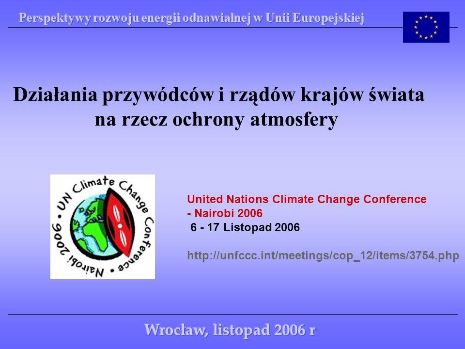 Działania przywódców i rządów krajów świata na rzecz ochrony atmosfery