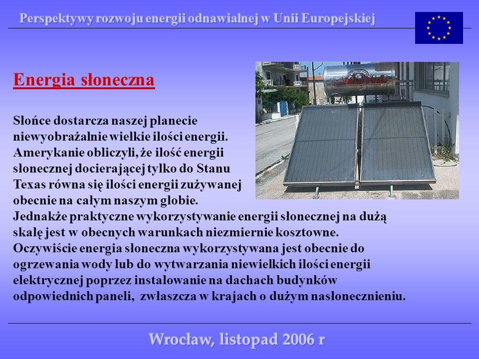 Energia słoneczna Wrocław, listopad 2006 r