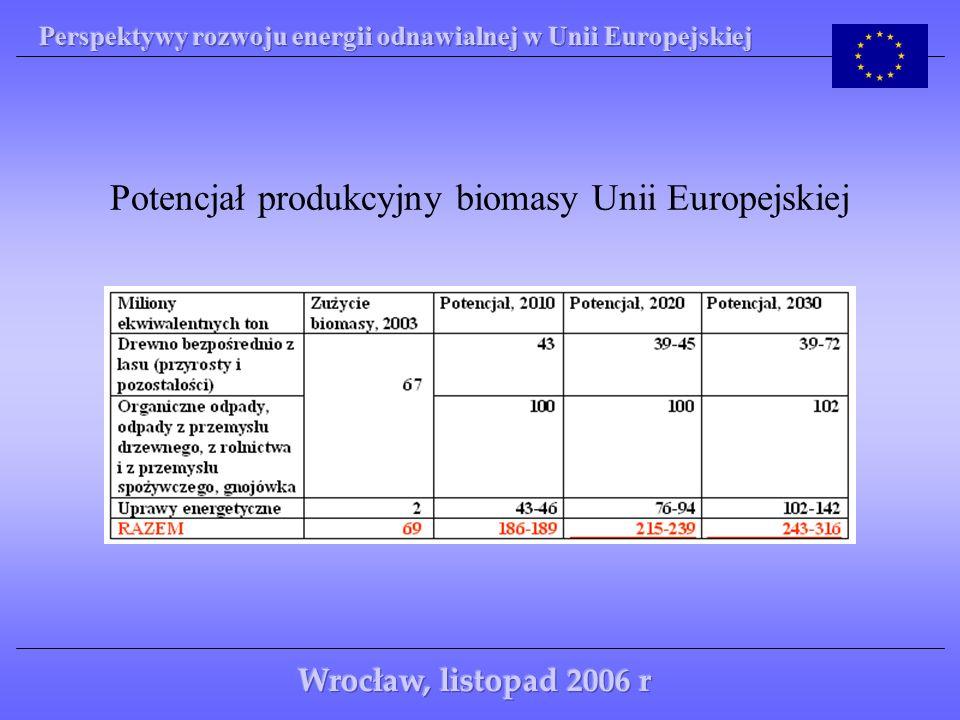 Potencjał produkcyjny biomasy Unii Europejskiej