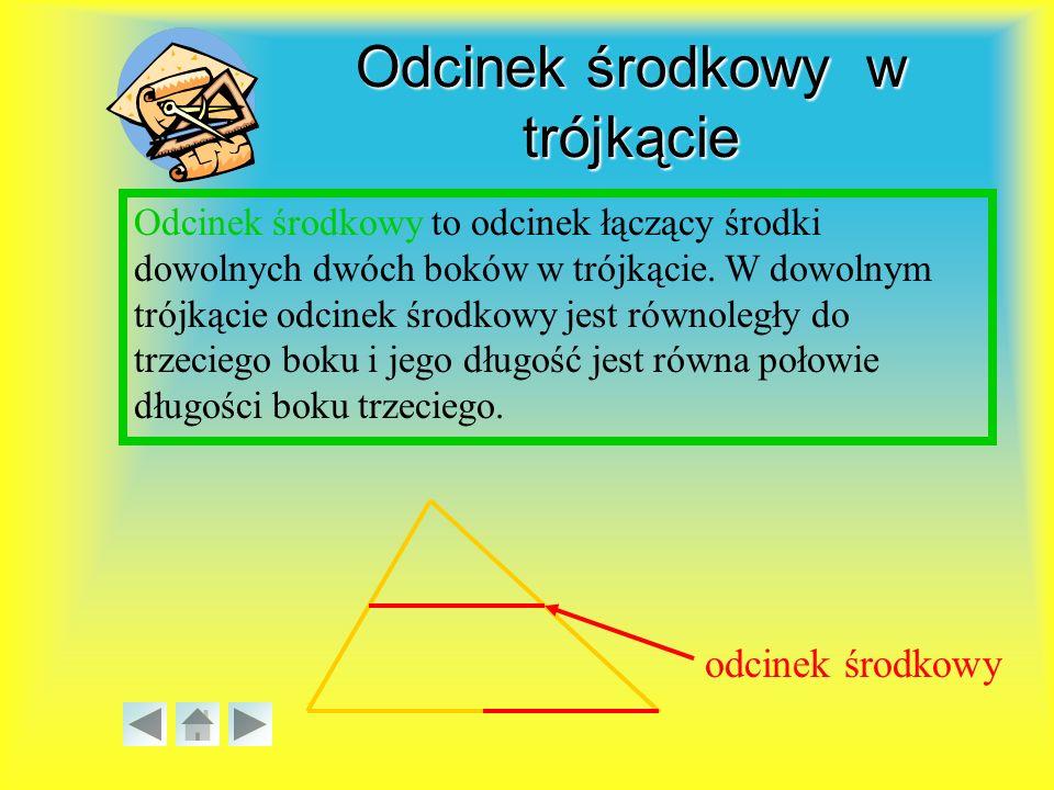 Odcinek środkowy w trójkącie