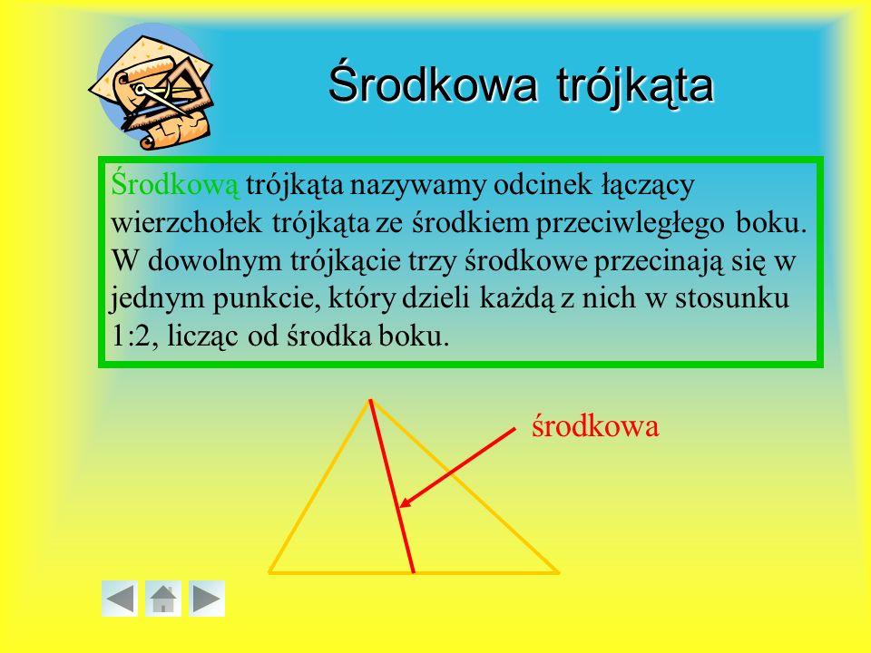 Środkowa trójkąta środkowa