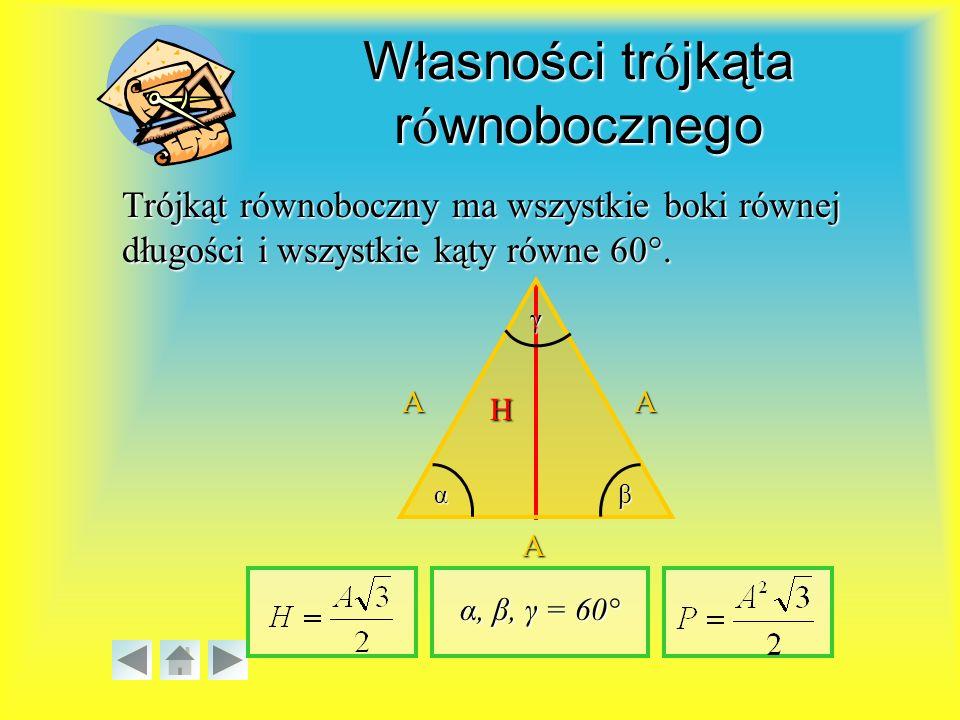 Własności trójkąta równobocznego