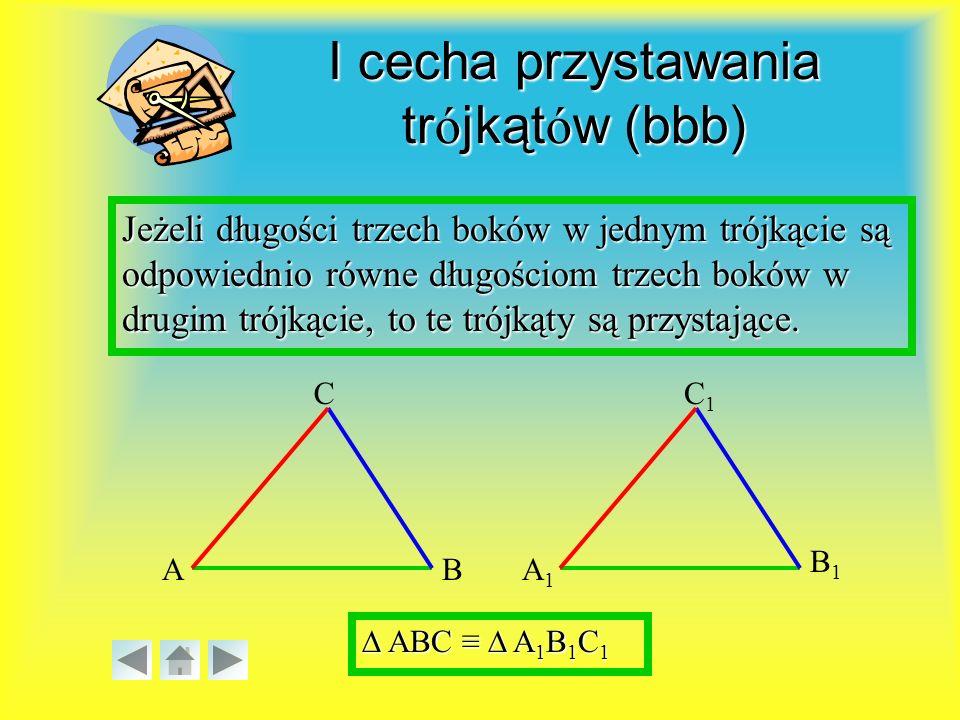 I cecha przystawania trójkątów (bbb)