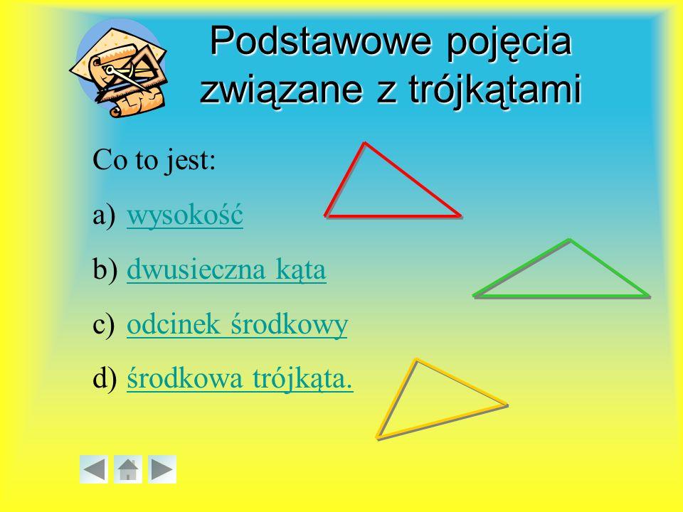 Podstawowe pojęcia związane z trójkątami