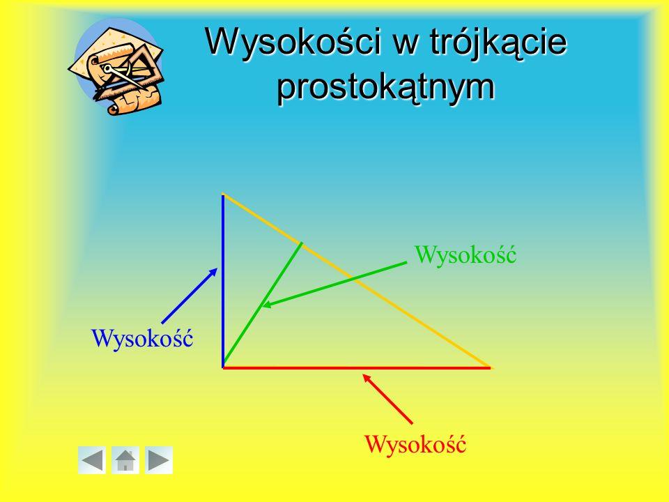 Wysokości w trójkącie prostokątnym