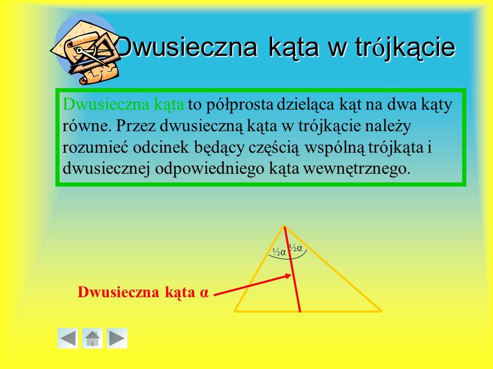 Dwusieczna kąta w trójkącie
