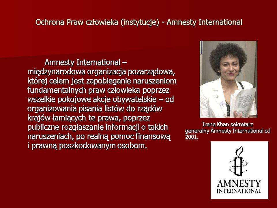Ochrona Praw człowieka (instytucje) - Amnesty International