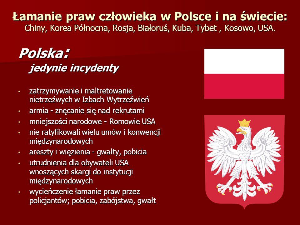 Polska: jedynie incydenty