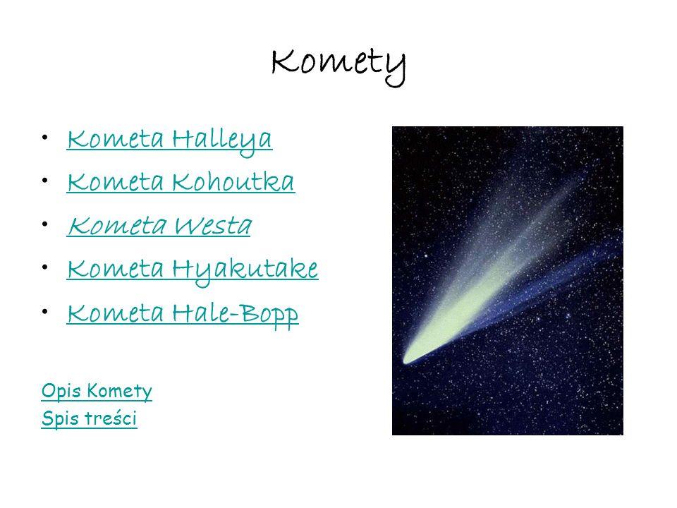 Komety Kometa Halleya Kometa Kohoutka Kometa Westa Kometa Hyakutake