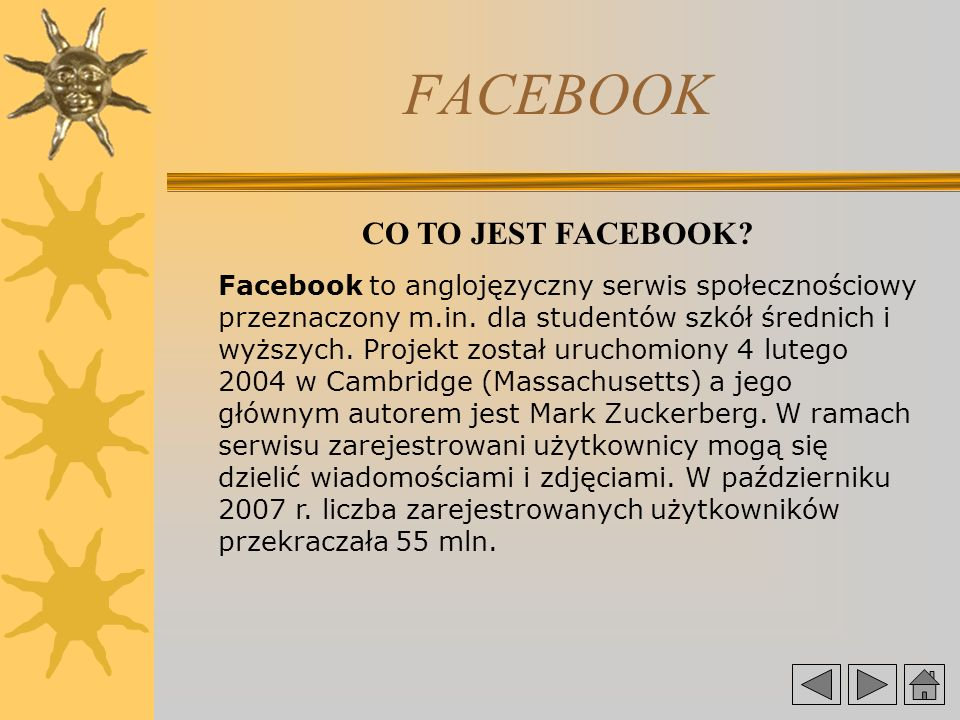FACEBOOK CO TO JEST FACEBOOK