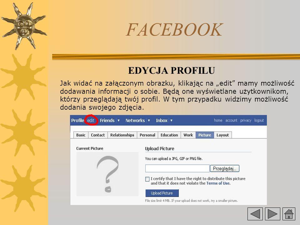 FACEBOOK EDYCJA PROFILU