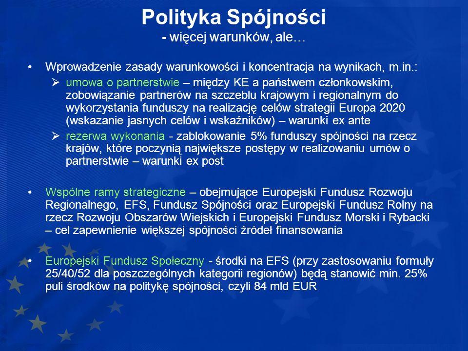 Polityka Spójności - więcej warunków, ale…