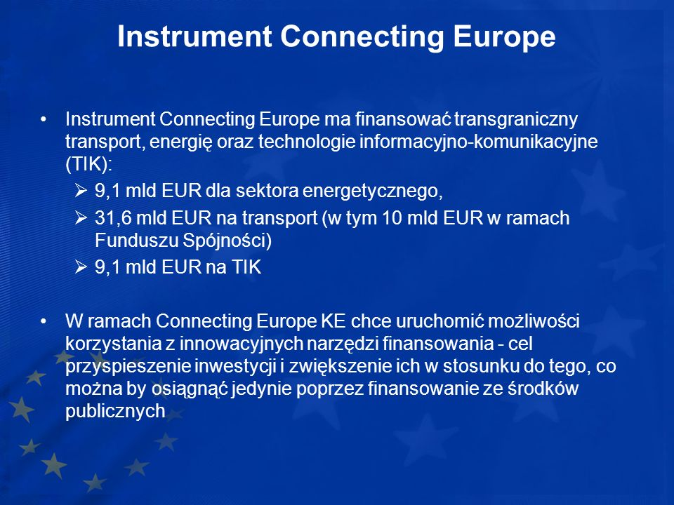 Instrument Connecting Europe