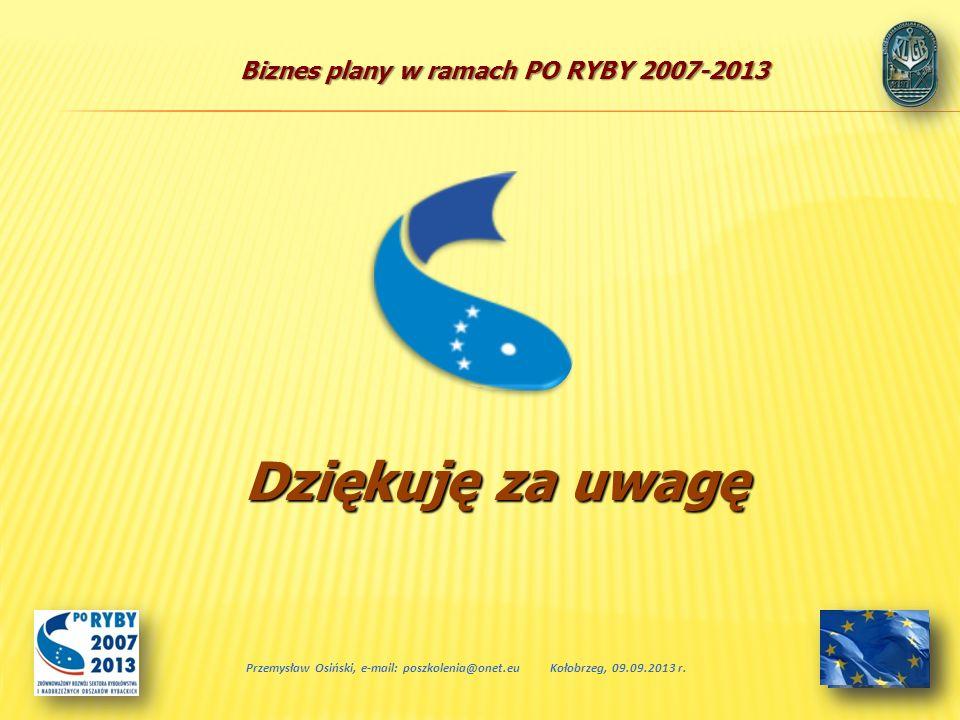 Dziękuję za uwagę Przemysław Osiński, e-mail: poszkolenia@onet.eu
