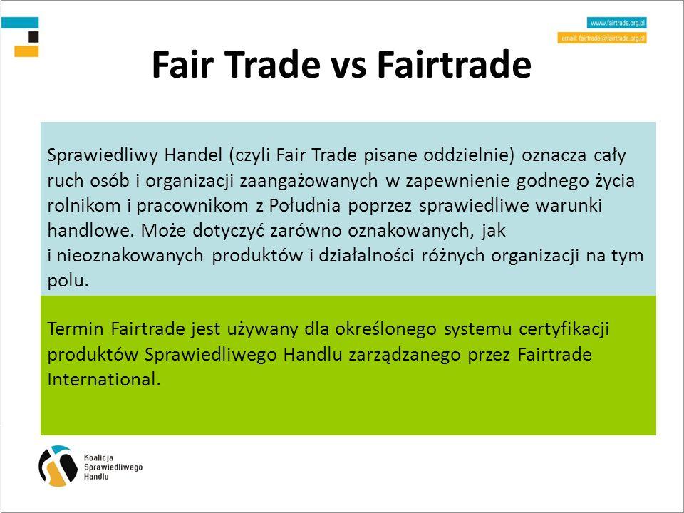Fair Trade vs Fairtrade