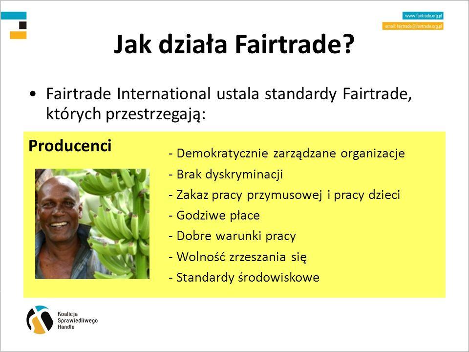 Jak działa Fairtrade Producenci