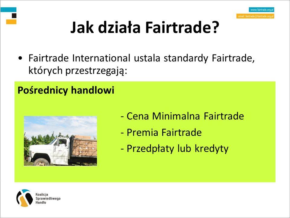 Jak działa Fairtrade - Cena Minimalna Fairtrade - Premia Fairtrade